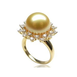 Belinda South Sea Pearl and Diamond Ring