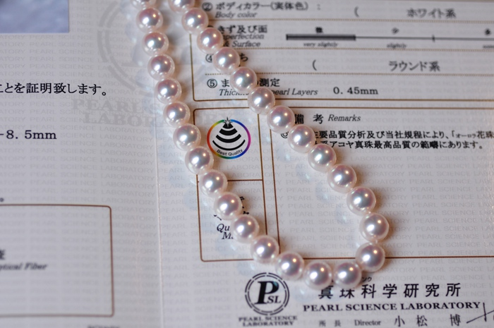 e7e0bf082 White Hanadama Akoya Pearl Necklace 9.0-9.5mm 9.0-9.5 mm White ...