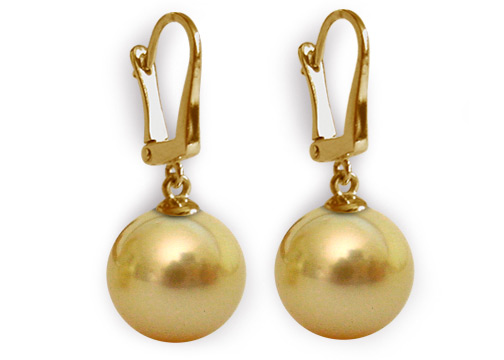 South Sea Pearl Earrings 14k 18k Gold