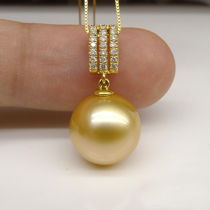 collection sea products mm south golden pearl drop pendant unity