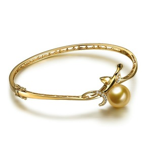 tqs cuff adjustable for bracelet plated imitation women bracelets bangle silver amazon bangles pearl dp com