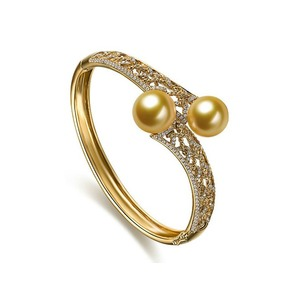 bangle white pearl product bangles bracelet gold diamond